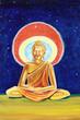 Golden Buddha illustration