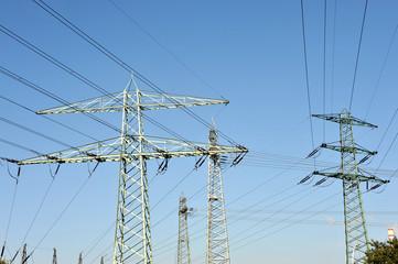 Strommasten, Hochspannung, Elektrizität, Energie, Leitungsnetz