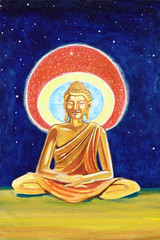 Golden Buddha illustration