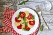 Traditional italian salad 'Caprese'.