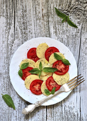 Traditional italian salad 'Caprese'.