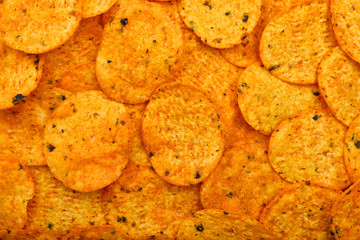 Nachos chips background