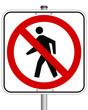 Fussgänger verboten  #140804-svg05