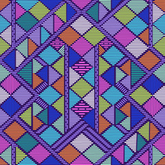 abstract tribal geo ~ seamless vector background