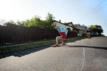 Longboarding Teens