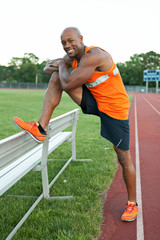 Track Runner Stretching