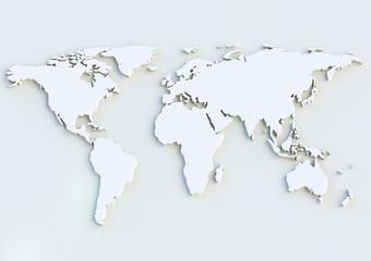 Weltkarte 3D - World map 3D