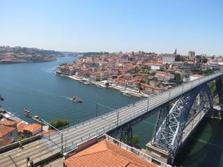 Portugal - Porto - Le Douro et le pont Dom-Luis
