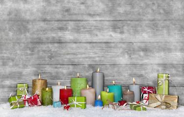 Weihnachtlicher Hintergrund - Geschenkgutschein Weihnachten