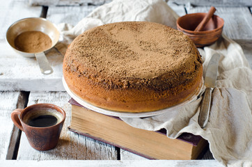 Cake with cinnamon