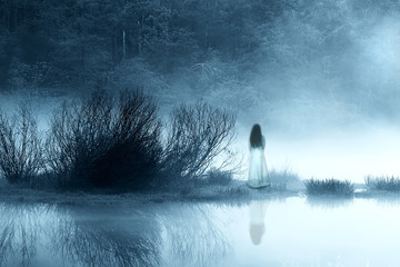 Mysterious Woman in the Mist