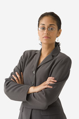 Portrait of businesswoman with arms crossed