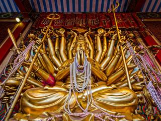 Thousand-armed Avalokitesvara Statue in Ayutthaya, Thailand