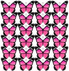 Fondo de mariposas rosas