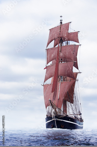 Panel Szklany Black schooner