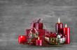 Dekoration Weihnachten klassisch in Rot als Weihnachtskarte