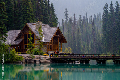 Deurstickers Situatie emerald lake lodge