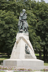 Monument to the poet Lermontov in Pyatigorsk, Russia