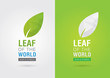 Leaf of the world. Eco volunteer icon. For green business soluti