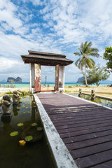 Beautiful resort entrance. Krabi, Thailand