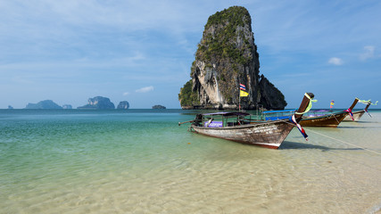 Beautiful Phra Nang beach on Railay. Krabi, Thailand