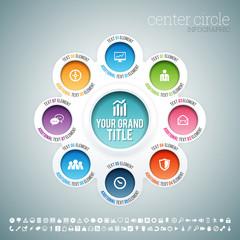 Center Circle Infographic