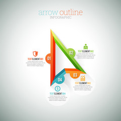 Arrow Outline Infographic