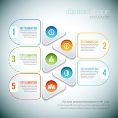 Abstract Shape Infographic