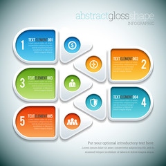 Abstract Gloss Shape Infographic