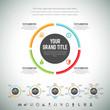 Minimalist Circle Line Infographic