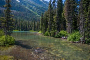 peaceful stream, montana