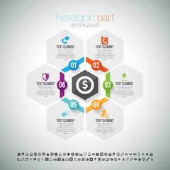 Hexagon Part Infographic