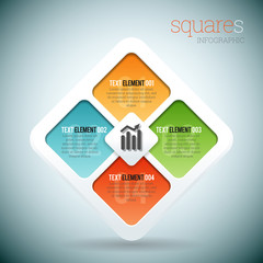 Squares Infographic