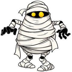 Vector illustration of Cartoon mummy
