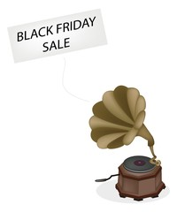 A Vintage Gramophone Playing Black Friday News