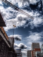 Construction site in Toronto