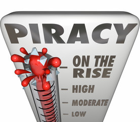 Piracy On the Rise Thermometer Measuring Illegal File Sharing Do