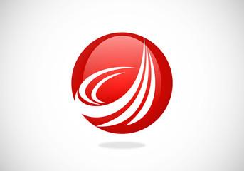 sphere swirl loop vector logo