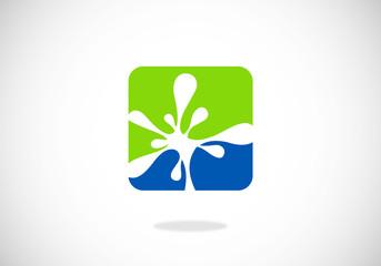 splash water icon vector