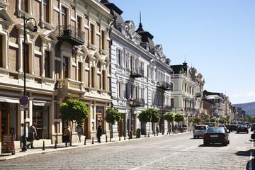 Agmashenebeli Avenue in Tbilisi. Georgia