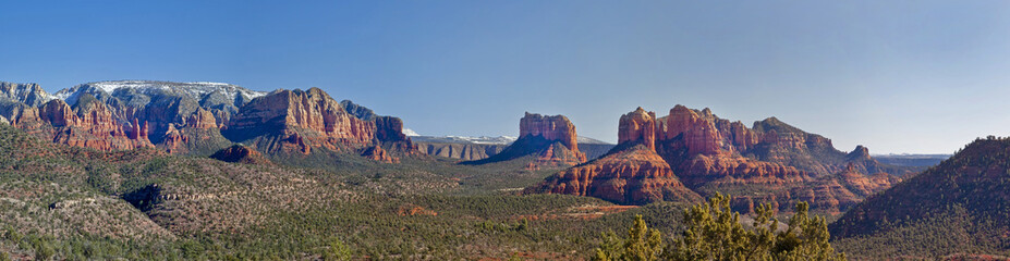 Arizona's Sedona Valley Panoramic with Cathedral Rock