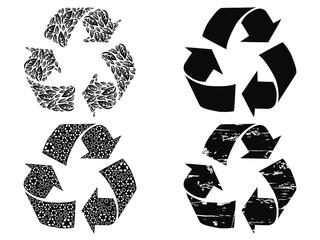 black recycling symbol