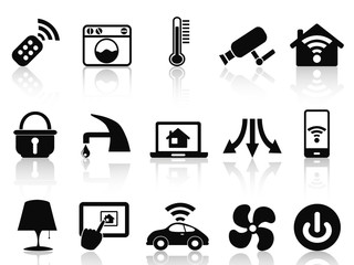 smart house icons set