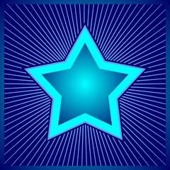 Blue stars - digital design