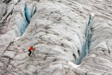 climber on glacier