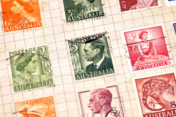 Old Australian Postage Stamps