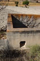 reservoir d'eau à sec