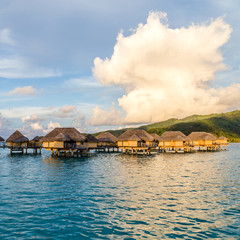 Luxury overwater villas