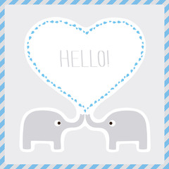 Elephants say hello1