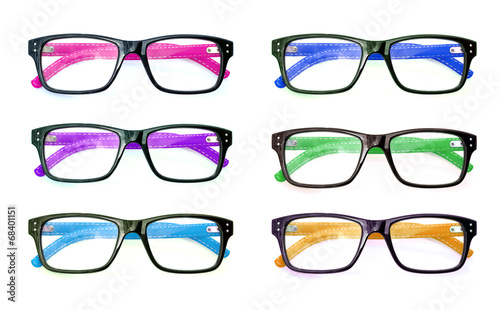 Group of Beautiful glasses isolated